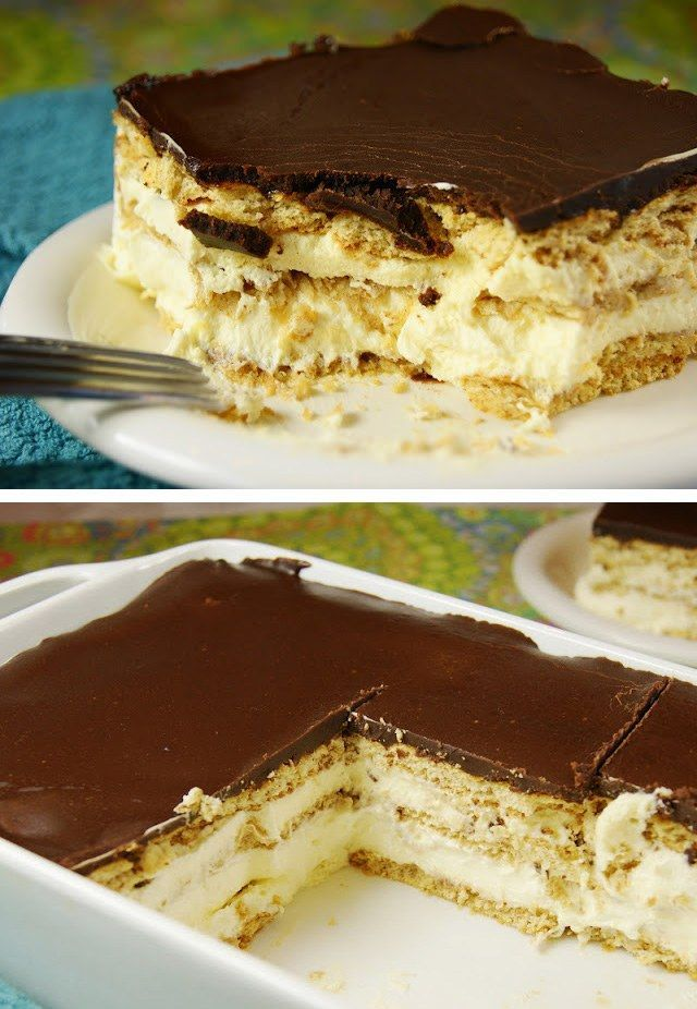 éclair pastel de chocolate de