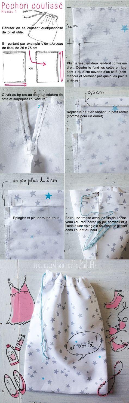 Tuto Cadeau Pochon -Couture