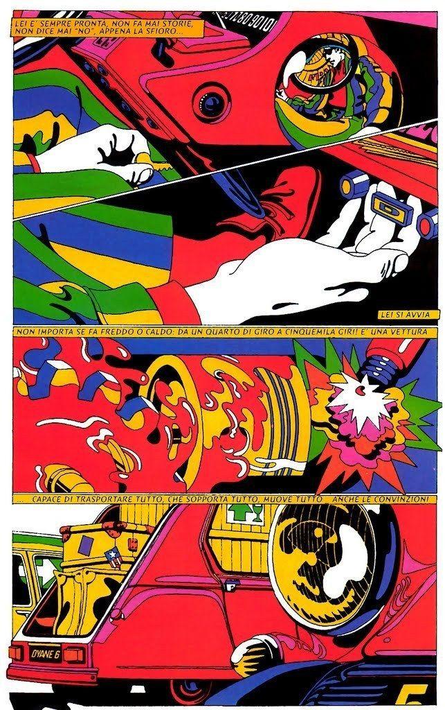 Psychedelic Comic Illustration by Michel Quarez - AnotherDesignBlog.