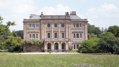 Southill House, West Cranmore, Somerset. Approached along a sweeping drive through its own parkland. Grade I listed manor house, with its mellow Somerset contours and Ashlar façade, dates from the early 18th century.