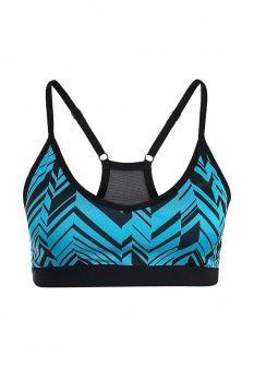 Топ спортивный Nike, цвет: синий. Артикул: NI464EWDRT65. Женская одежда