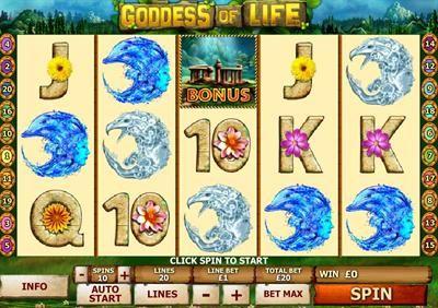 Earth Mother in Goddess of Life abundantly gives life and crystal bonus prizes