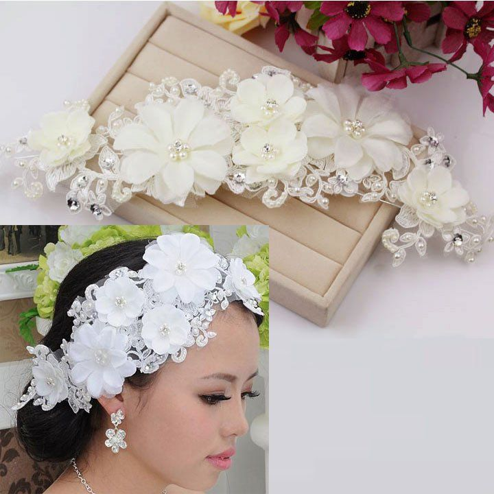 Best 25 wedding supplies wholesale ideas on pinterest wholesale handmade lace bridal hair accessories head flower junglespirit Images