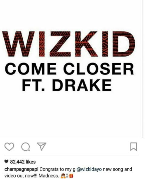 Nigerians Slam Drake For Not Featuring In Wizkid's Video For Their Collabo ''Closer''