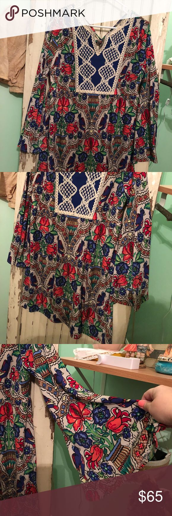 """Judith March Dress New without tags Judith March Dress Size Large. Super cute and soft!! Perfect spring dress Measurement  19"""" Bust  33"""" Length Judith March Dresses Midi"""