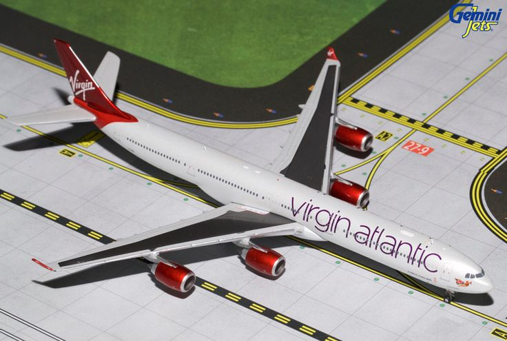 1/400 GeminiJets Virgin Atlantic Airbus A340-600 Diecast Model