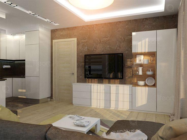Кухня-гостиная в современном стиле   lifeat.su