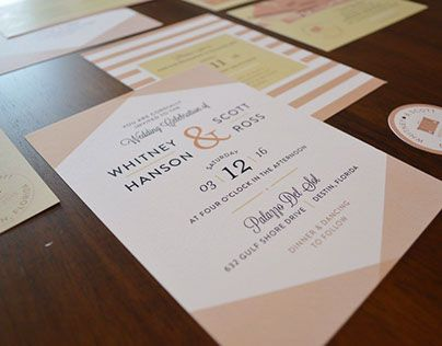 """Check out new work on my @Behance portfolio: """"Whitney & Scott Wedding Suite"""" http://be.net/gallery/45545525/Whitney-Scott-Wedding-Suite"""