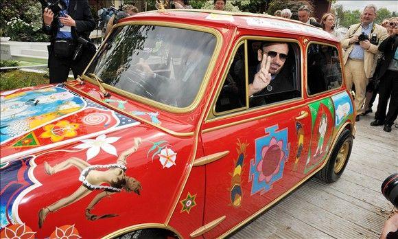 Ringo Starr in his Psychedelic Mini