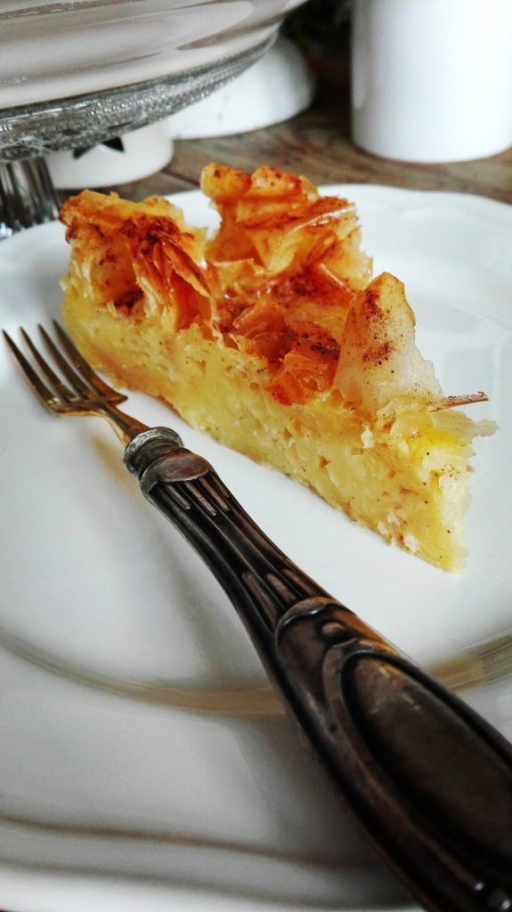 Ruffle milk pie/Torta greca di pasta fillo e crema al whisky/tarta griega de pasta filo con crema de whisky | Rossotamarindo