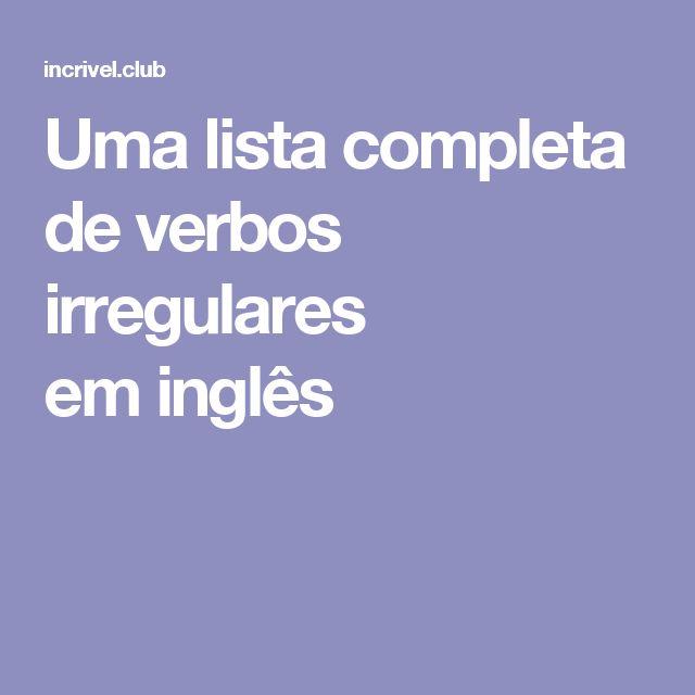 Artesanato Sustentavel No Tocantins ~ +1000 ideias sobre Lista De Verbos no Pinterest Verbos, Verbos irregulares e Verbos en ingles