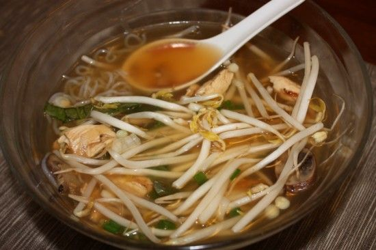 Chicken PHO using Miracle Noodles (no calories)