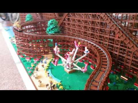 A massive wooden roller coast built entirely out of LEGO | The Brothers Brick