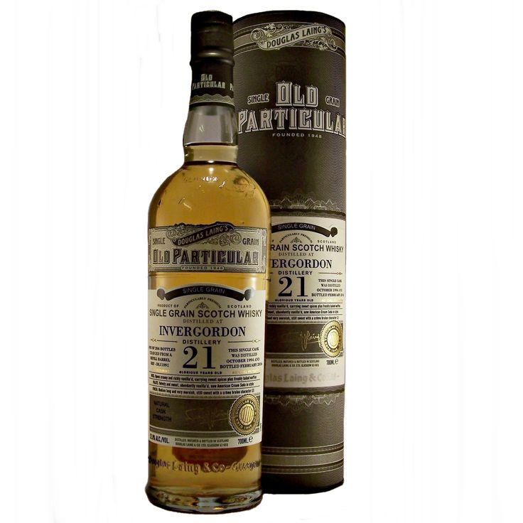 Invergordon Old Particular 21 year old Single Grain Whisky available to buy online at specialist whisky shop whiskys.co.uk Stamford Bridge York