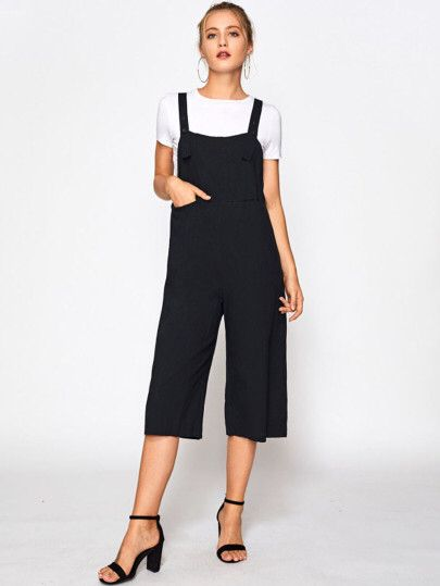 b0324db21e Wide Leg Crop Pinafore Jumpsuit Only US 11.00