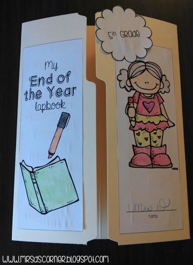 End of the Year Memory Lapbook with 13 foldables! Blog post at Mrs. D's Corner