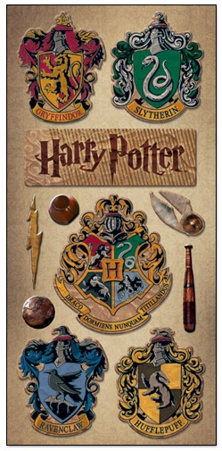 £1.99 Harry Potter Chipboard Stickers www.scrappingthemagic.co.uk great for all your Harry Potter Studio Tour or Wizarding World of Harry Potter Scrapbooking Layouts
