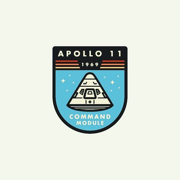 Apollo Command Module Badge