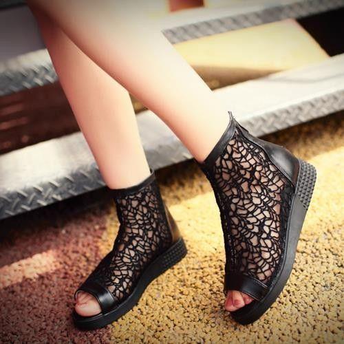 Pas cher Hot vente nouveau 2015 mode creux d'été femmes sandales plate   forme appartements dames de la mode tenue décontractée chaussures, Acheter  Sandales pour femmes de qualité directement des fournisseurs de Chine:             Nous sommes usine directe vente, nôtre chaussures est de haute qualité!