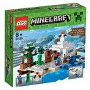 Lego Minecraft: The Snow Hideout (21120) 21120 Build The Snow Hideout! You™ve ventured out on an icy mining expedition, but the sun is heading for the horizon and hostile mobs will soon be roaming this snow-covered landscape. Lay down your wooden  http://www.MightGet.com/january-2017-11/lego-minecraft-the-snow-hideout-21120-21120.asp