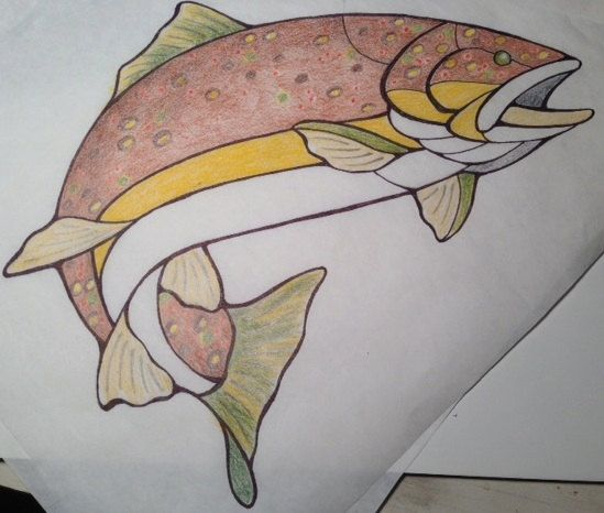 The Beautiful Brown Trout by ONeilRockyMtArt on Etsy