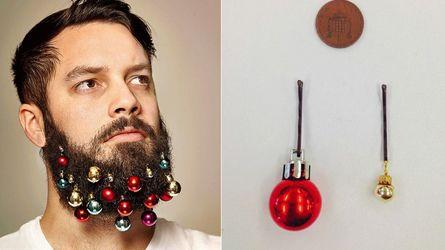 Boules de Noël et poils de barbe
