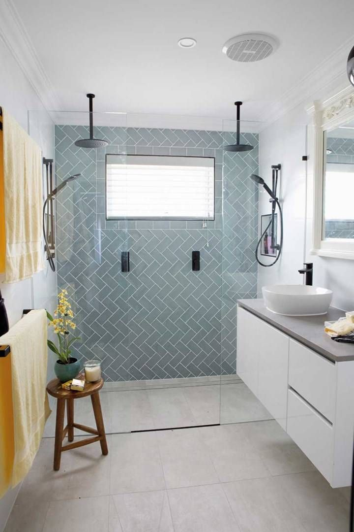 House Rules Hope Island Reveal What They Got Right Modern Bathroom Design Modern Bathroom Design Contemporary Bathroom Design Small Modern