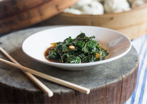 Stir-Fried Saltbush With Ginger & Tamari, Kylie Kwong takes Australian-Chinese food to a new level with this bush tucker