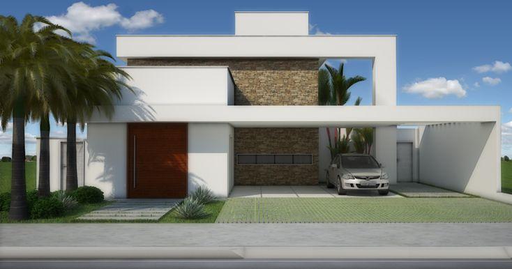 Fachadas de casas quadradas veja 40 modelos dos sonhos for Modelos de fachadas de casas