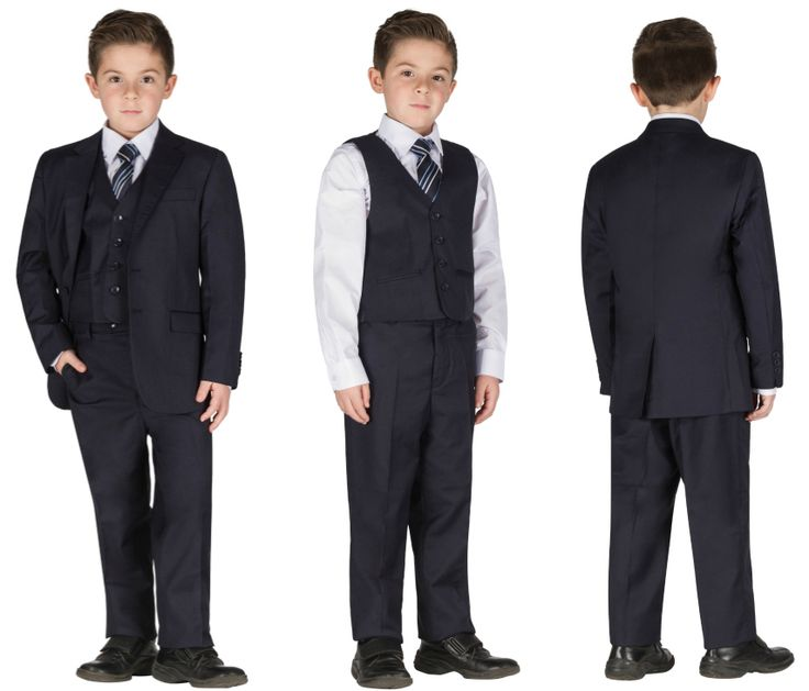 Blue 5 pieces formal chic wedding suit for kids tuxedo  #suit #fashion #trend #chic #holidays #amazing #children #life #wow #wedding