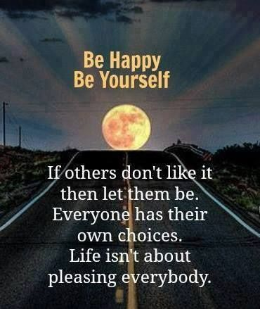 be happy be yourself | Quotes | Pinterest