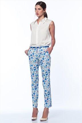Trend: Moda Ateşi - Kadın Tekstil - Kemerli Mavi Pantolon 4057 %71 indirimle 19,99TL ile Trendyol da