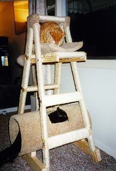 toolcrib.com - 21 FREE CAT FURNITURE PLANS: FREE PLANS FOR CAT TREES, CONDOS, SCRATCHING POSTS AND MORE
