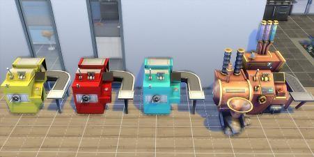 The Sims 4   Esmeralda Smaller Cupcake Machine   buy mode activities object mod