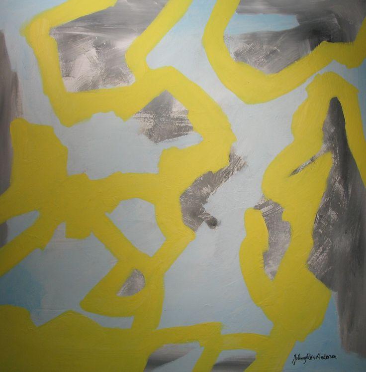 Maleri Tidevann 90x90 cm