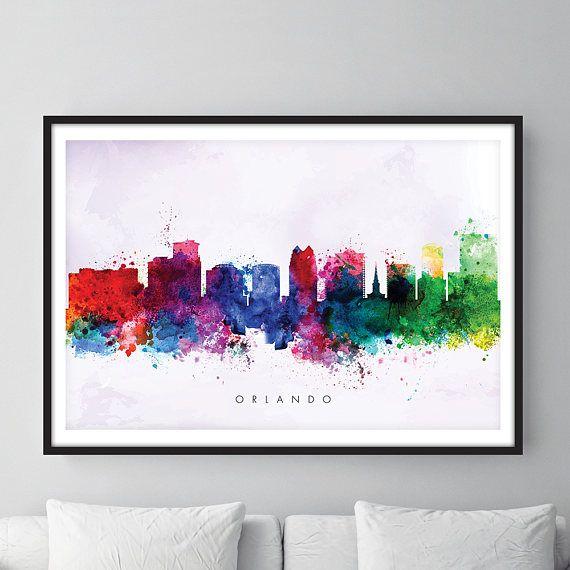 Check out this item in my Etsy shop https://www.etsy.com/uk/listing/526355211/orlando-skyline-orlando-florida