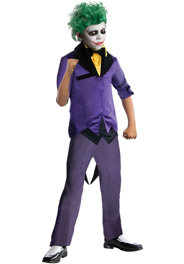 Joker Costume for Boys from the Super Villains Collection - General Kids Costumes at Escapade