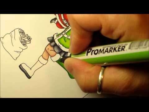 ▶ How to colour with Promarkers - YouTube