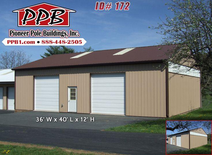 2 car garage 36 w x 40 l x 12 h id 172 36 for 12 x 10 garage door price