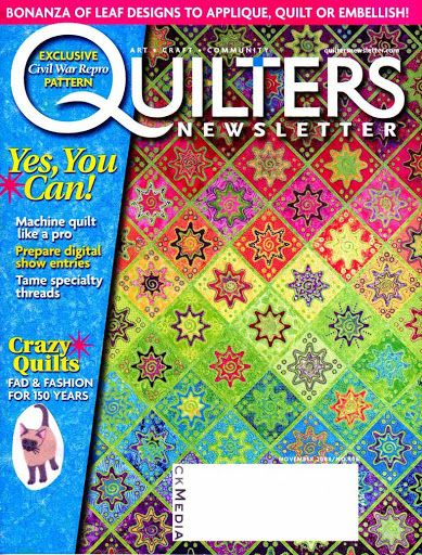 Quilters Newsletter November/dec 2008 dutch circus part 1 bom