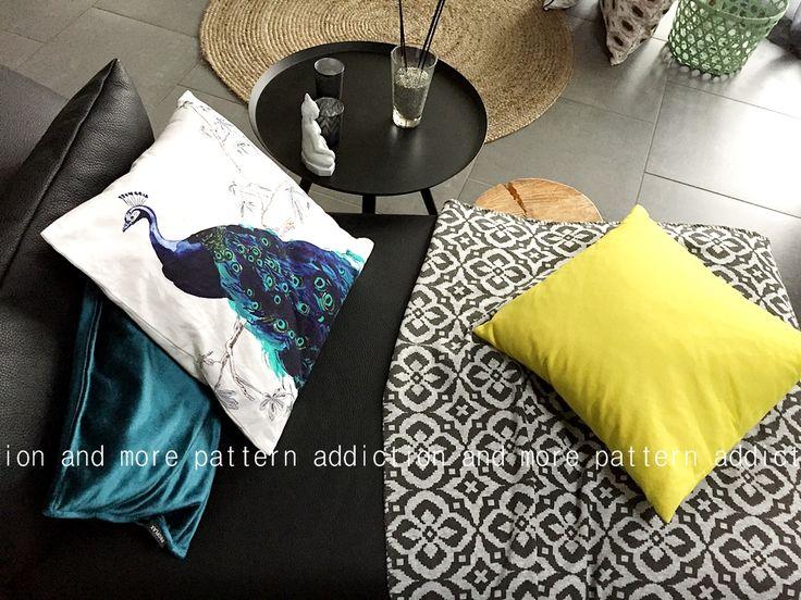 Détails ethniques, couleurs pep's et motifs paon, tapis en rotin, plaid à motifs géométrique