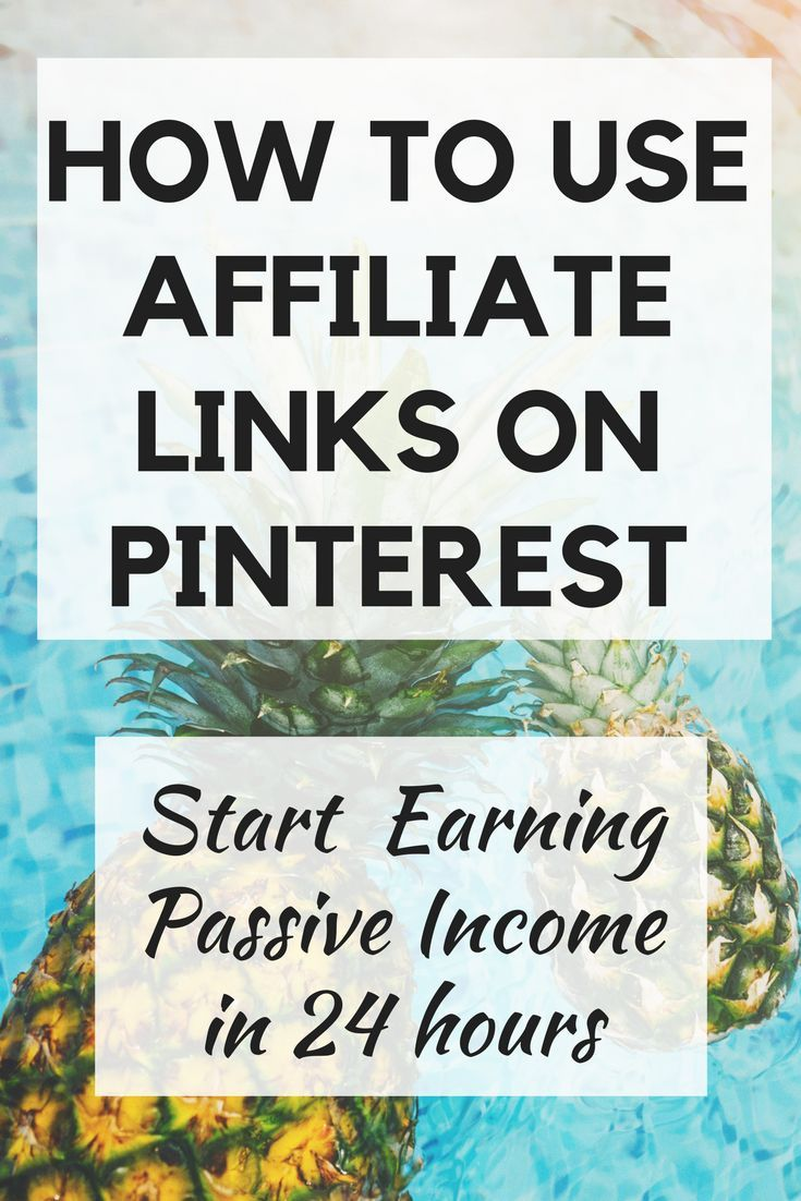 [affiliate link] Learn how to use affiliate links on Pinterest and start making a passive income now. These money-making tips are perfect for bloggers so you can make money starting today!