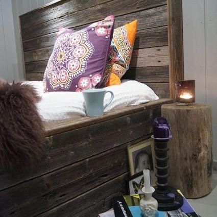 Deilig seng i gamle materialer