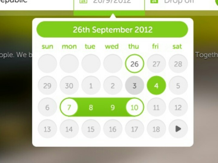 #UI calender #design for #event reservations 83oranges.com