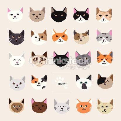 ベクトルアート : Cat collection