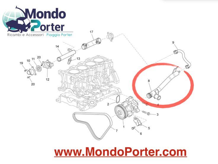 Tubo Acqua Piaggio Porter Multitech B010238