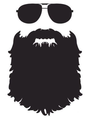 Beard sunglasses Die cut Vinyl Decal - Oracal Car Window Sticker phone meme fun #FunfareDecals