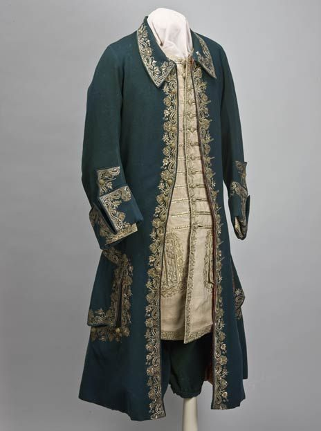 This suit was worn by Peter the Great and dates to the 1720s. Or this gaudy outfit worn by James II on his wedding in 1673.