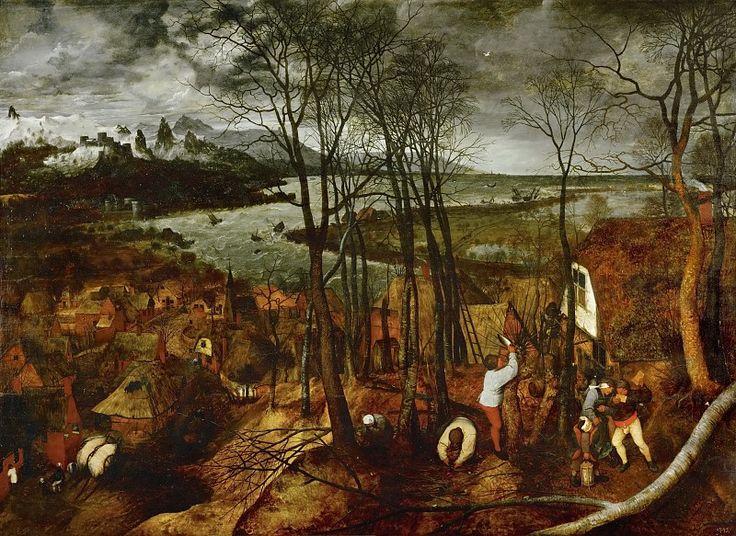 Пасмурный день. Питер Брейгель Старший, 1565, Музей истории искусств, Вена