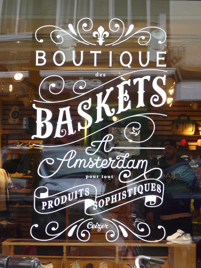 boutique des baskets à Amsterdam